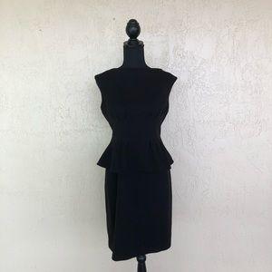 Lauren Ralph Lauren Black Peplum Dress Size 8